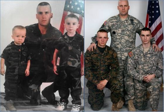 Recreated-military-family-photos