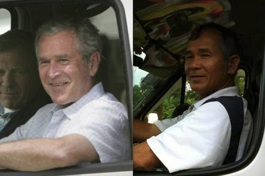 George W. Bush et son (humble) sosie