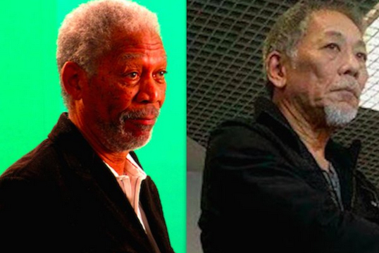 Morgan Freeman et son sosie asiatique