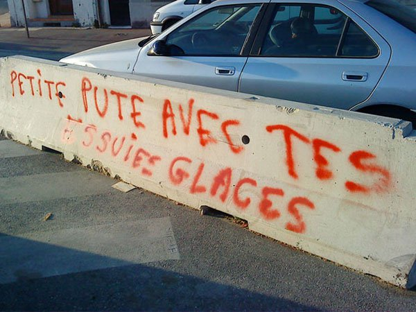 photo de graffitis ratés