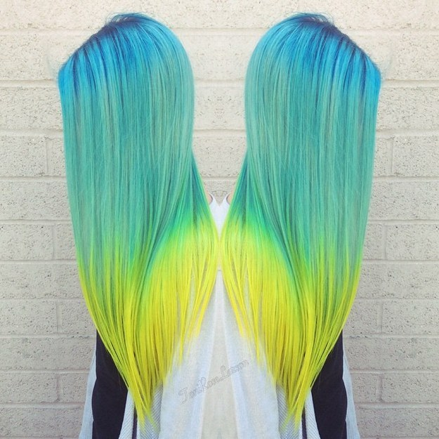 cheveux fluo