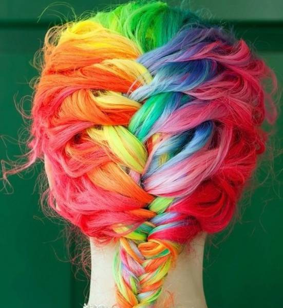cheveux multicolore