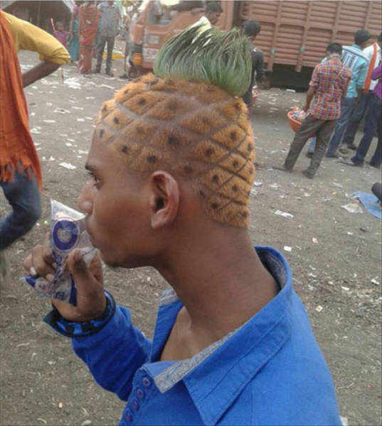 coupe cheveux ananas