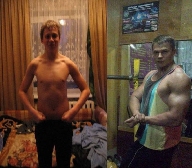 photo homme change muscle