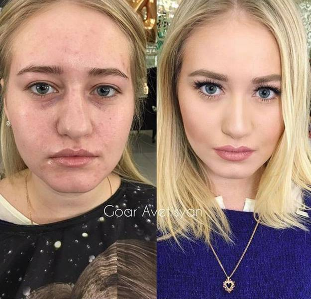 fille transformation maquillage