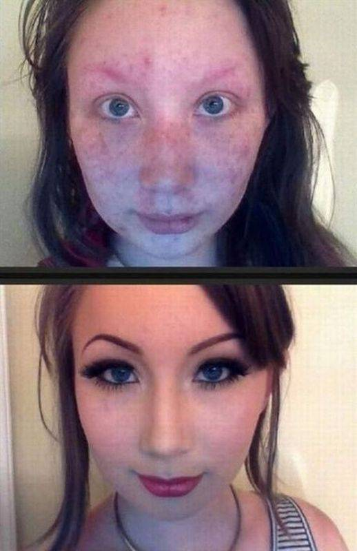 fille maquillage transformation