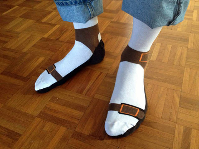chaussette forme chaussure